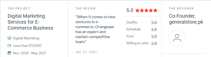 Orangease Review By Client